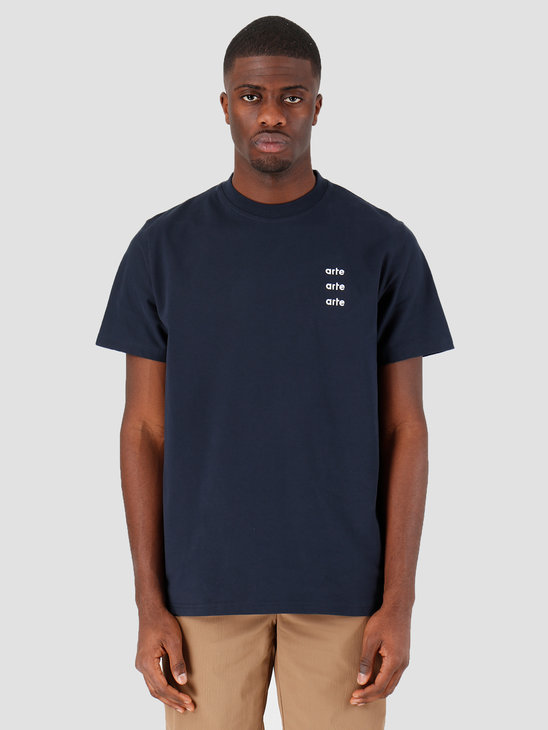 Arte Antwerp Thomas Multi Logo T-shirt Navy SS20-045T
