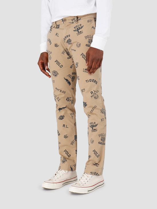 Polo Ralph Lauren Slfbedfordp Flat Pant Beige Khaki 710783827001