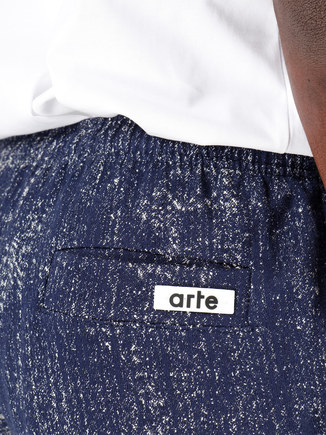 Arte Antwerp Arte Antwerp Suns Shorts Navy White SS20-052SHO