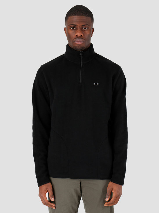 Quality Blanks QB95 Half Zip Fleece Black