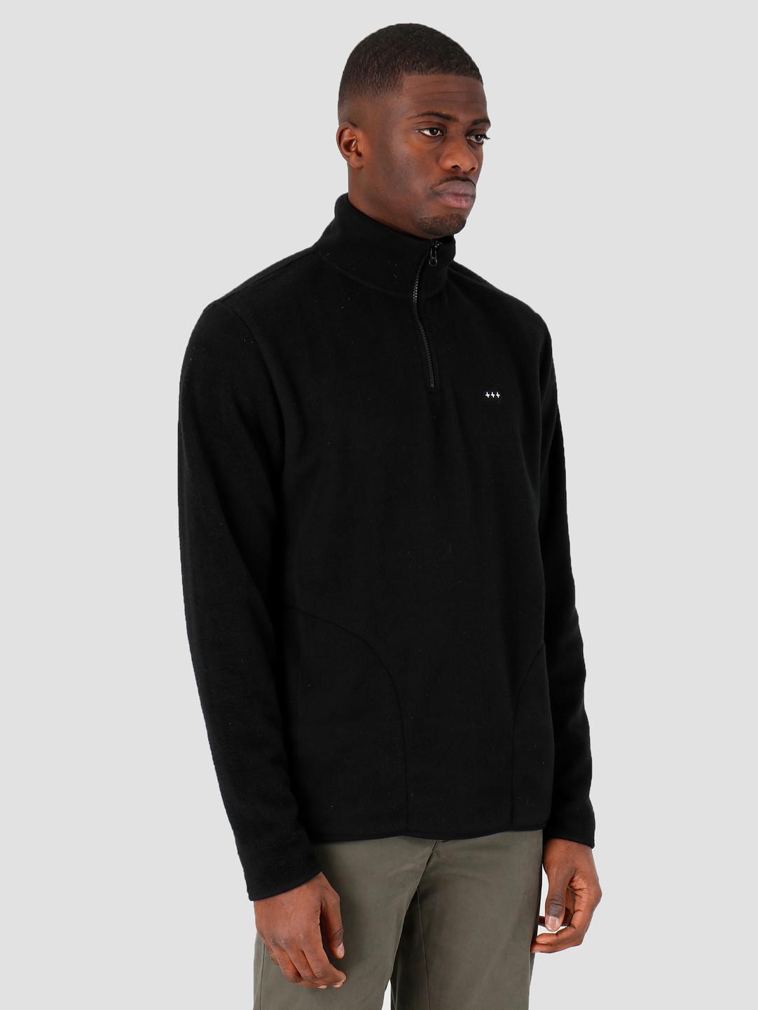 Quality Blanks Quality Blanks QB95 Half Zip Fleece Black