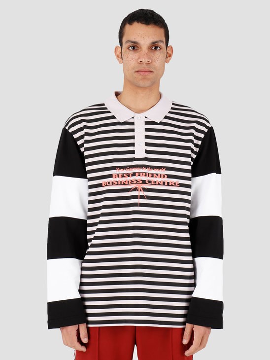 Daily Paper Hapolo Longsleeve Old Pink Black Stripe 20S1LS02-02