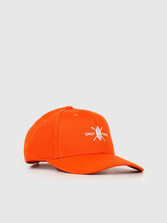 Daily Paper Shield Logo Cap Flame Orange 20E1AC06-02