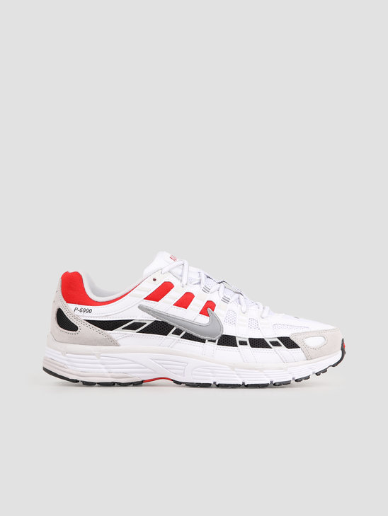 Nike P 6000 White Particle Grey University Red CV3038-100