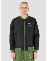 Nike Nike NSW Swoosh Bomber Jacket Woven Treeline Black White CJ4875-326