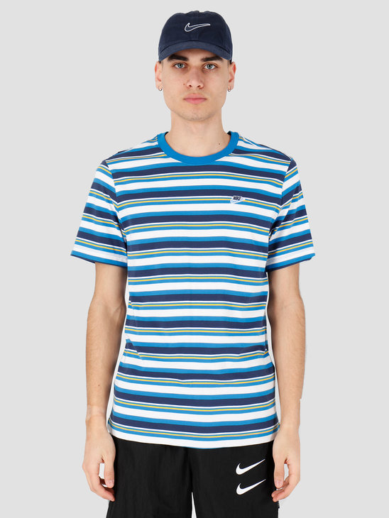 Nike NSW T-shirt Stripe Battle Blue CK2702-484