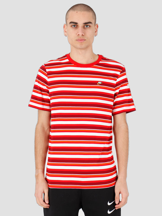 Nike NSW T-shirt Stripe University Red CK2702-657