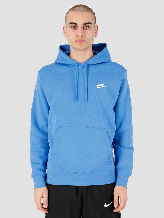 Nike NSW Club Hoodie Po Bb Pacific Blue Pacific Blue White BV2654-402