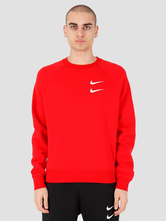 Nike NSW Swoosh Crewneck Bb University Red White CJ4865-657