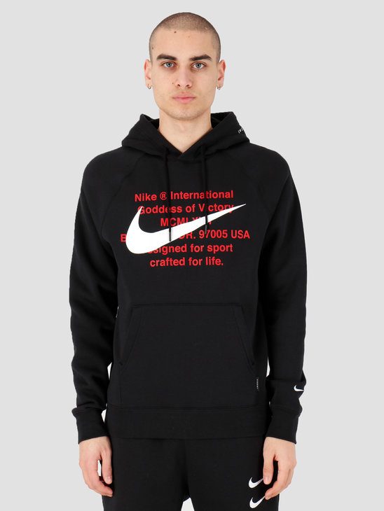 Nike NSW Swoosh Hoodie Po Bb Black White CJ4861-010