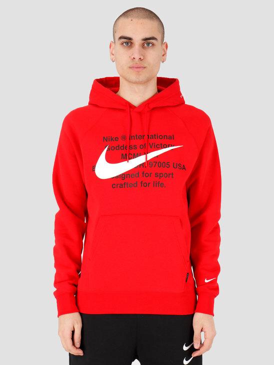 Nike NSW Swoosh Hoodie Po Bb University Red White CJ4861-657