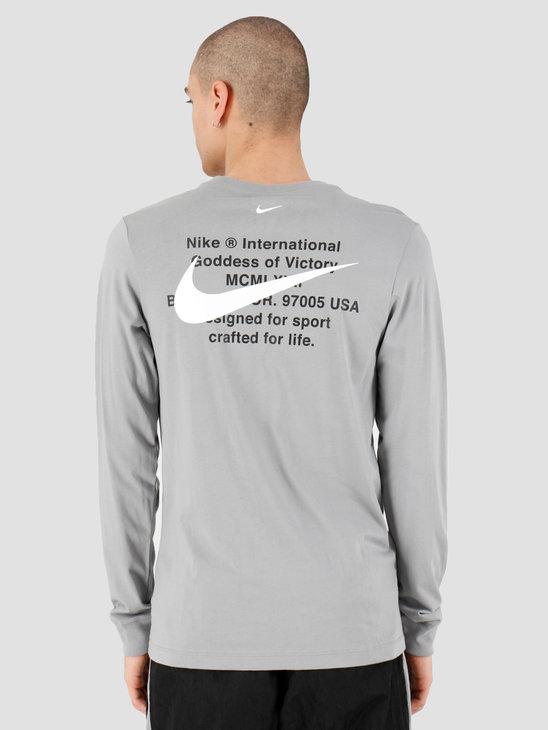 Nike NSW Swoosh Longsleeve T-shirt Particle Grey CK2259-073