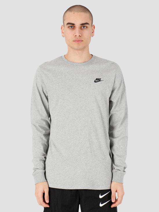 Nike Sportswear Longsleeve Dk Grey Heather Black Ar5193-063