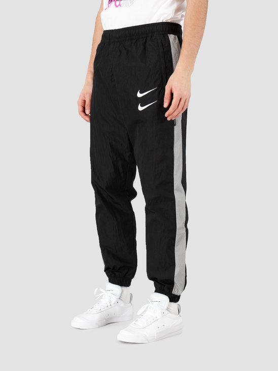 Nike NSW Swoosh Pant Woven Black Particle Grey White CJ4877-010