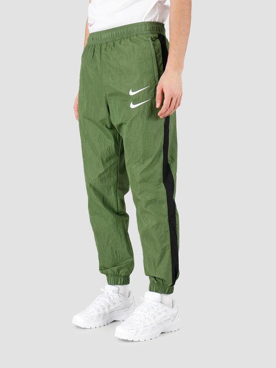 Nike NSW Swoosh Pant Woven Treeline Black White CJ4877-326