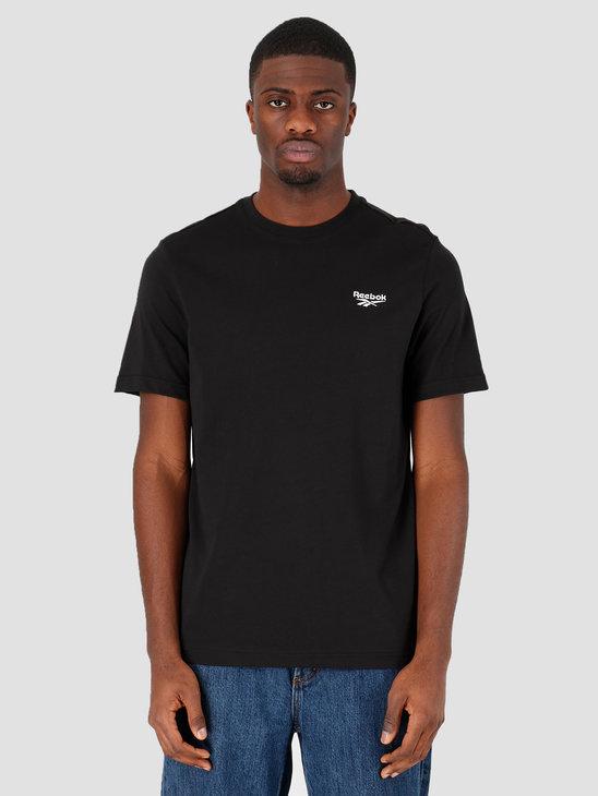 Reebok Cl F Small Vector T-Shirt Black FK2668