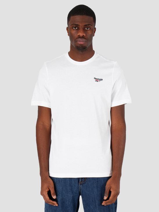 Reebok Cl F Small Vector T-Shirt White FK2666