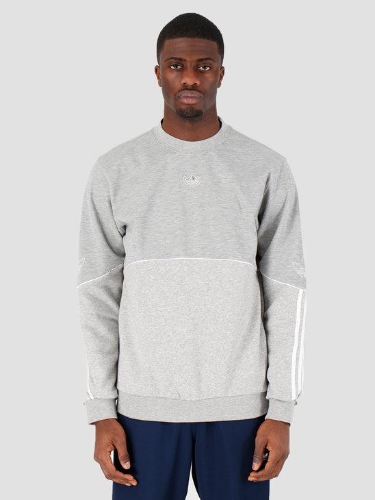 adidas Outline Crw Flc Grey Heather FM3921