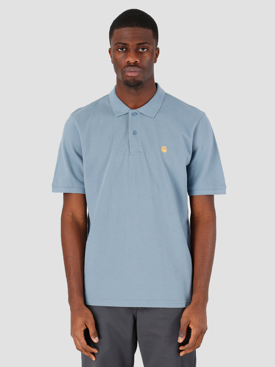 Carhartt WIP Chase Short Sleeve Pique Polo Mossa Gold I023807-08S90