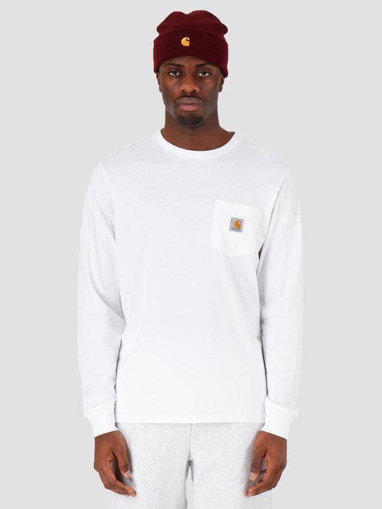 Carhartt WIP Longsleeve Pocket T-Shirt White I022094