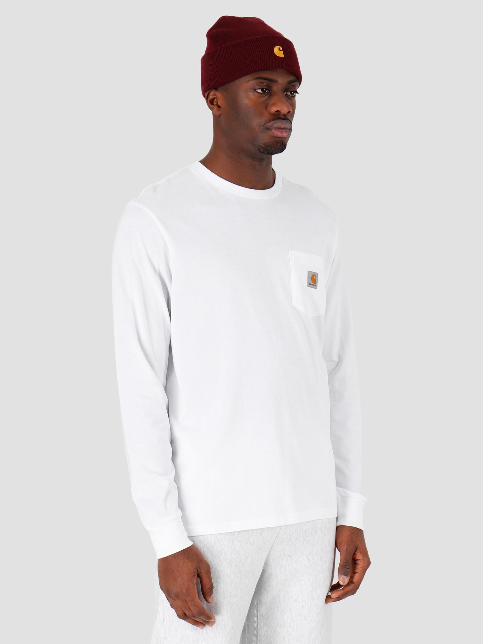 Carhartt WIP Carhartt WIP Longsleeve Pocket T-Shirt White I022094