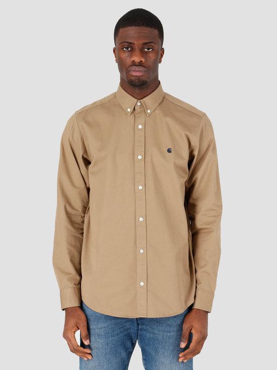 Carhartt WIP Madison Shirt Leather Dark Navy I023339-8Y92