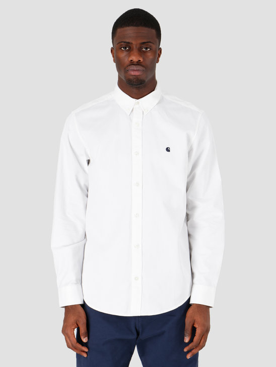 Carhartt WIP Madison Shirt White Dark Navy I023339-293