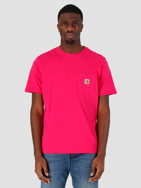 Carhartt WIP Pocket T-Shirt Ruby Pink I022091-09D00