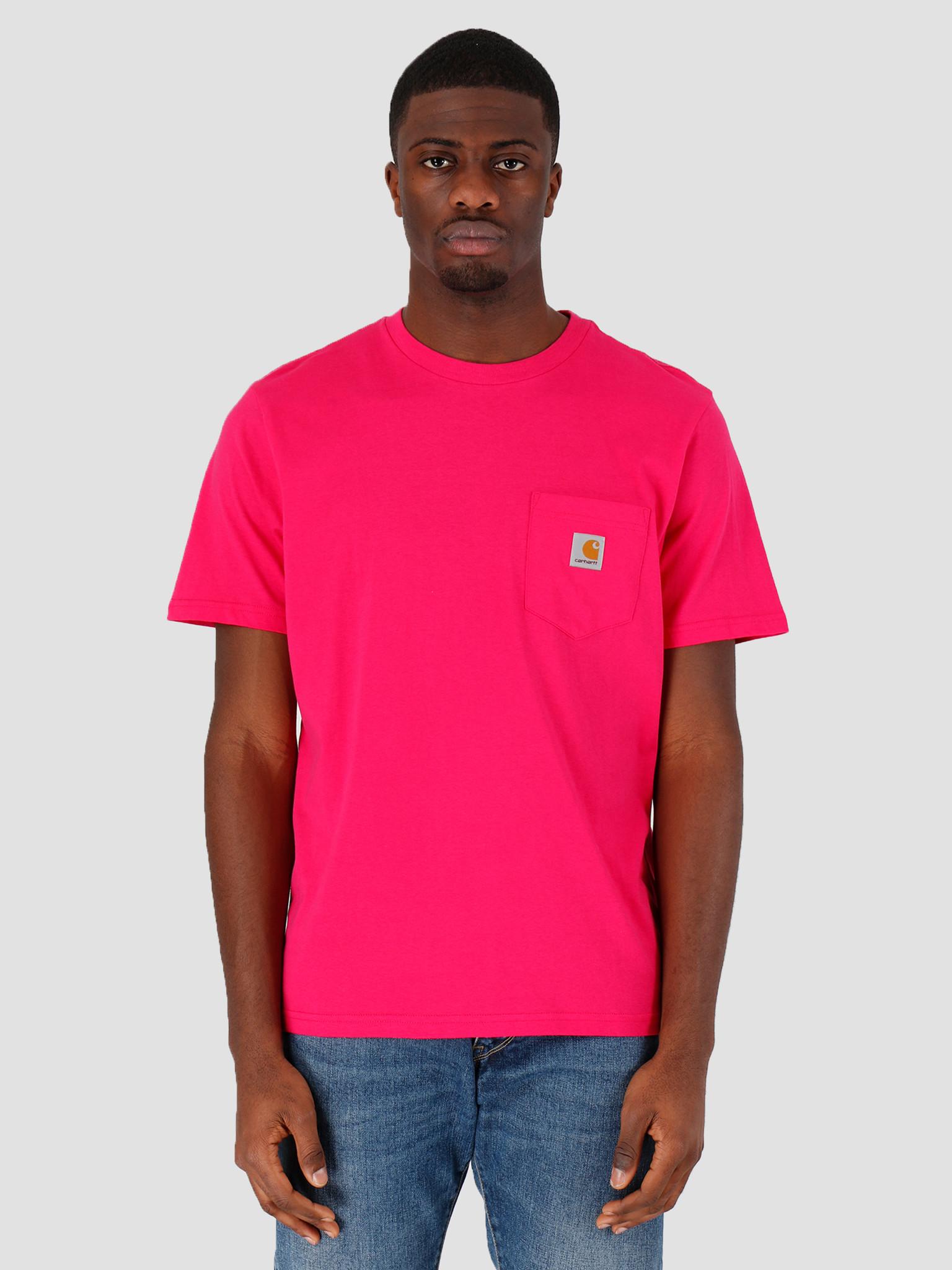 Carhartt WIP Carhartt WIP Pocket T-Shirt Ruby Pink I022091-09D00