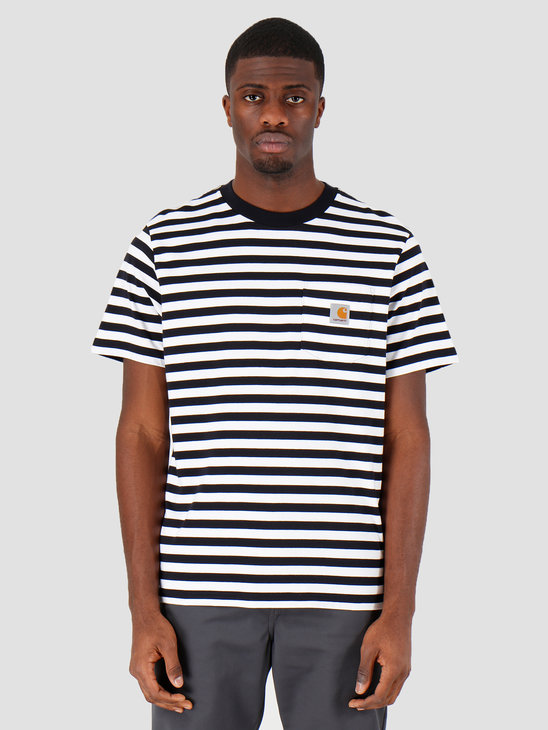 Carhartt WIP Scotty Pocket T-Shirt Scotty Stripe Dark Navy White I027732-1C1A