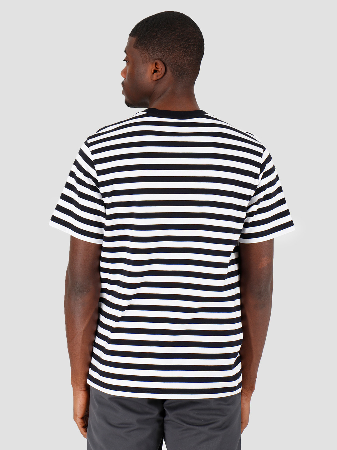 Carhartt WIP Carhartt WIP Scotty Pocket T-Shirt Scotty Stripe Dark Navy White I027732-1C1A
