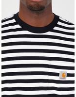 Carhartt WIP Carhartt WIP Scotty Pocket T-Shirt Scotty Stripe Dark Navy White I027733-1C1A