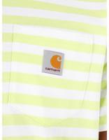 Carhartt WIP Carhartt WIP Scotty Pocket T-Shirt Scotty Stripe Lime White I027732-09E1A