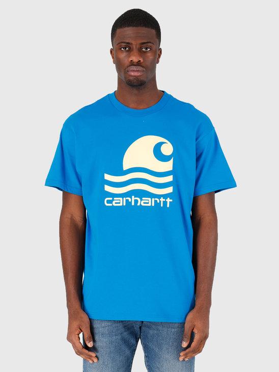Carhartt WIP Swim T-Shirt Azzuro Fresco I027750-08M90