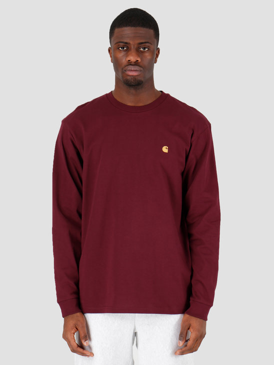 Carhartt WIP Chase T-Shirt Shiraz Gold I026392-08L90