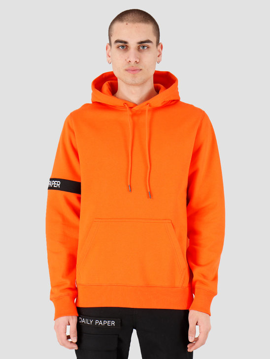 Daily Paper Captain Hoodie Flame Orange Stripe 20E1HD03-02