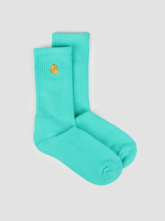 Carhartt WIP Chase Socks Yoda Gold  I026527-09A90