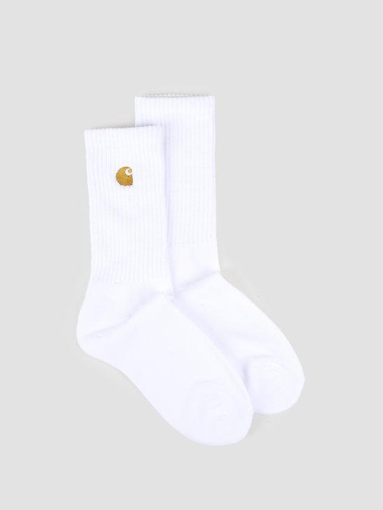 Carhartt WIP Chase Socks White Gold