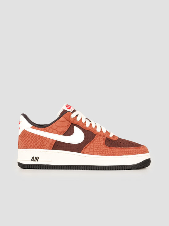 Nike Air Force 1 Premium Red Bark Sail Earth University Red CV5567-200
