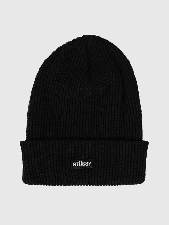 Stussy Small Patch Watch Cap Beanie Black 132957