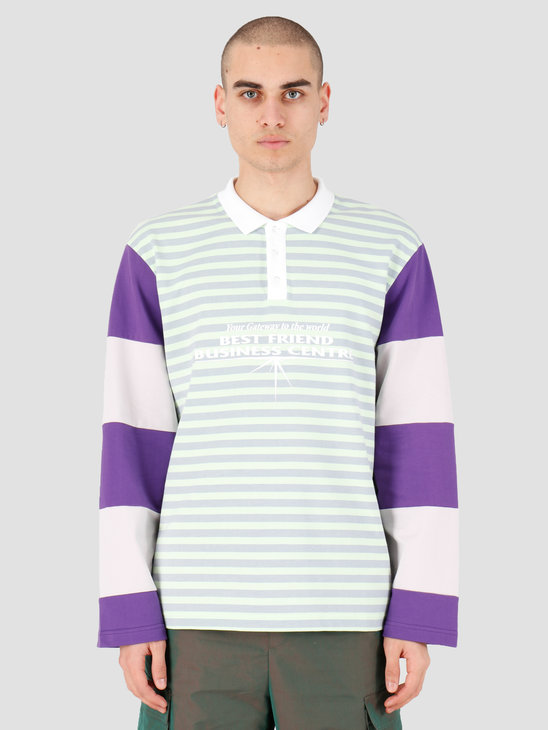 Daily Paper Hapolo Longsleeve Green Purple Stripe 20S1LS02-01