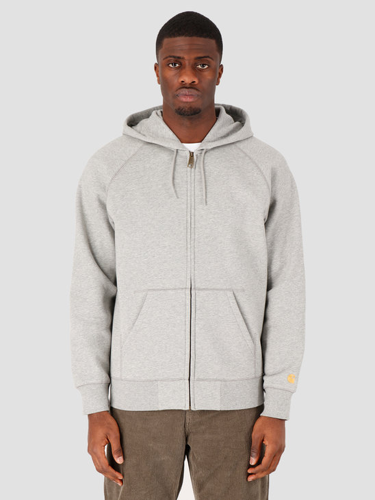 Carhartt WIP Hooded Chase Jacket Grey Heather Gold I026385-V690