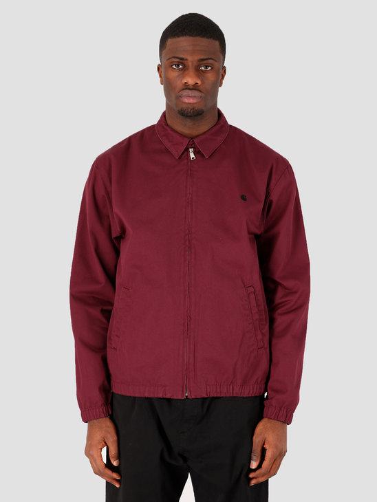 Carhartt WIP Madison Jacket Shiraz Black Rinsed I026487-08L02
