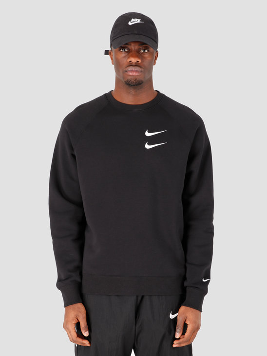Nike NSW Swoosh Crewneck Bb Black White CJ4865-010