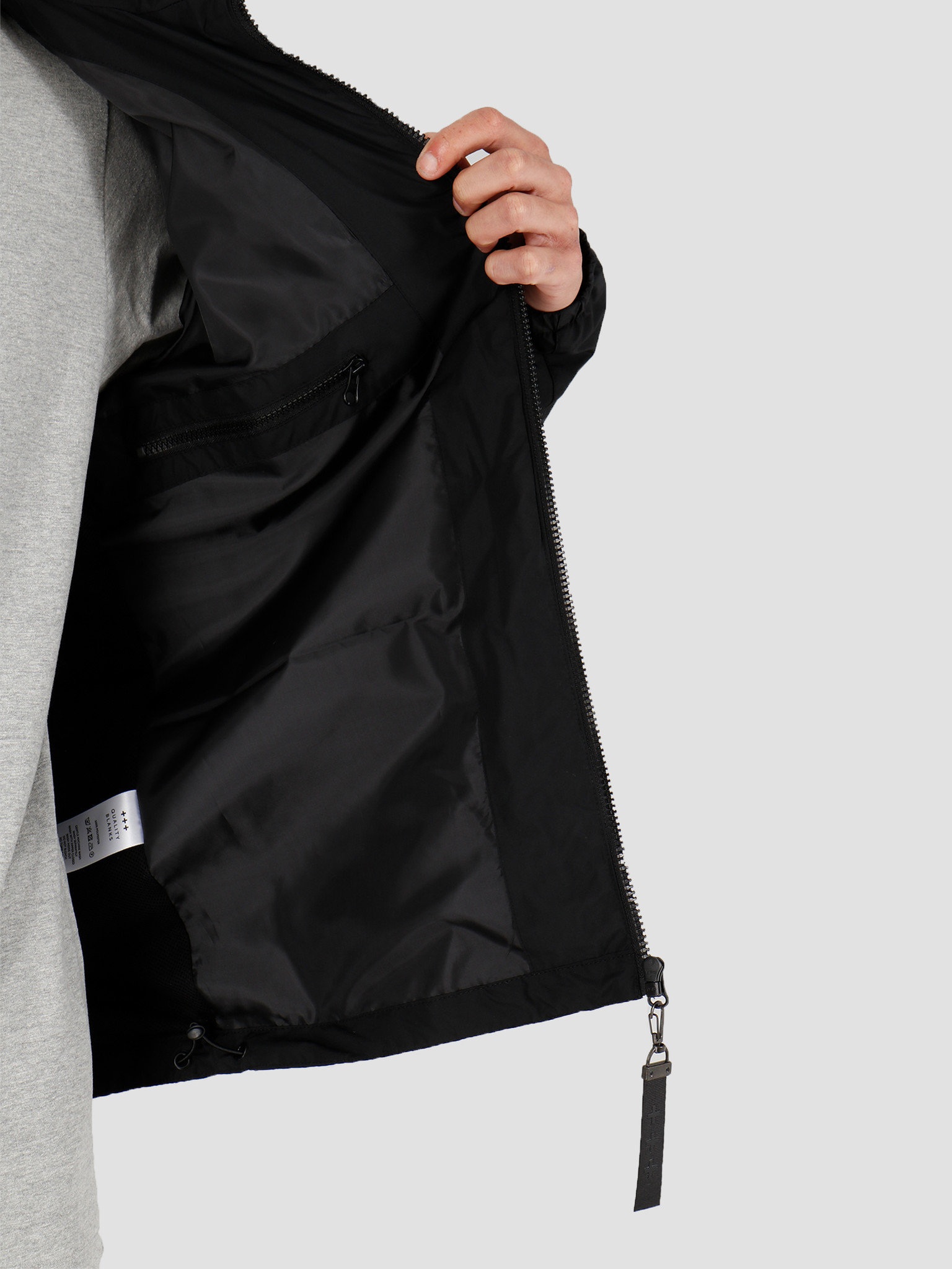 Quality Blanks Quality Blanks QB27 Windbreaker Jacket Black
