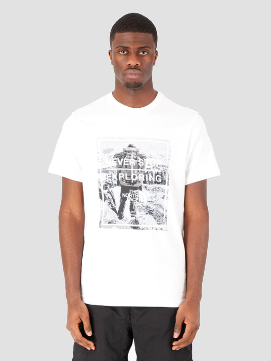 The North Face Short Sleeve Graphic Tee TNF White TNF White NF0A493MLG51
