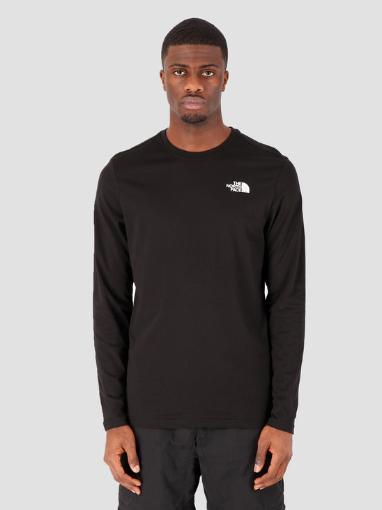 The North Face Longsleeve Red Box Tee TNF Black NF0A493LJK31