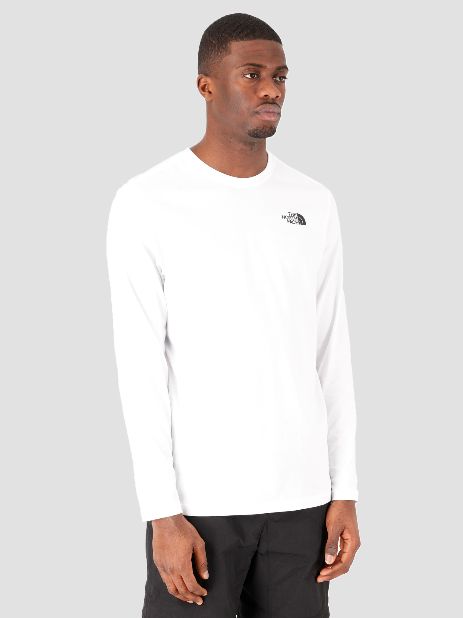 The North Face The North Face Longsleeve Red Box Tee TNF White NF0A493LFN41