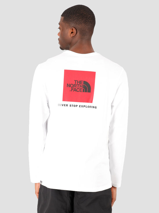 The North Face Longsleeve Red Box Tee TNF White NF0A493LFN41
