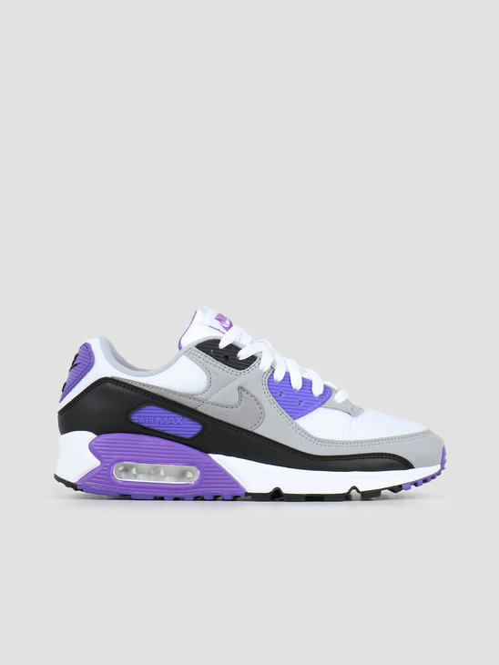 Nike Air Max 90 White Particle Grey Hyper Grape Black CD0881-104